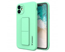Husa Spate Wozinsky Compatibila Cu iPhone 7 / 8 / Se 2 ( 2020 ), Cu Stand Metalic Pe Spate, Protectie La Camera - Verde Menta