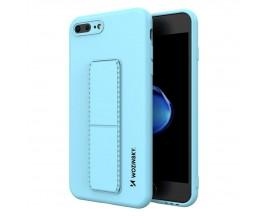 Husa Spate Wozinsky Compatibila Cu iPhone 7 Plus / 8 Plus, Cu Stand Metalic Pe Spate, Protectie La Camera - Blue Deschis