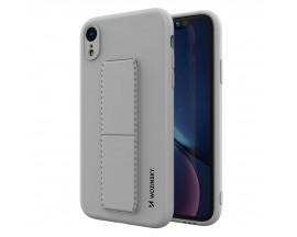 Husa Spate Wozinsky Compatibila Cu iPhone Xr, Cu Stand Metalic Pe Spate, Protectie La Camera - Gri