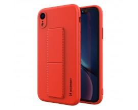 Husa Spate Wozinsky Compatibila Cu iPhone Xr, Cu Stand Metalic Pe Spate, Protectie La Camera - Rosu