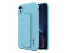 Husa Spate Wozinsky Compatibila Cu iPhone Xr, Cu Stand Metalic Pe Spate, Protectie La Camera - Blue Deschis