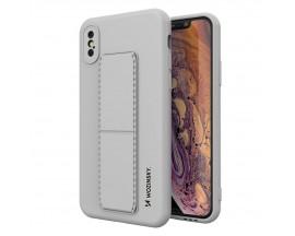 Husa Spate Wozinsky Compatibila Cu iPhone Xs / X, Cu Stand Metalic Pe Spate, Protectie La Camera - Gri