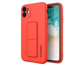 Husa Spate Wozinsky Compatibila Cu iPhone 11, Cu Stand Metalic Pe Spate, Protectie La Camera - Rosu
