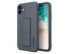 Husa Spate Wozinsky Compatibila Cu iPhone 12, Cu Stand Metalic Pe Spate, Protectie La Camera - Navy Blue