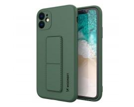 Husa Spate Wozinsky Compatibila Cu iPhone 12 Pro Max, Cu Stand Metalic Pe Spate, Protectie La Camera - Verde
