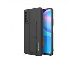 Husa Spate Wozinsky Compatibila Cu Huawei P Smart 2021, Cu Stand Metalic Pe Spate, Protectie La Camera - Negru