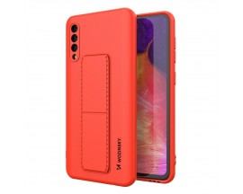 Husa Spate Wozinsky Compatibila Cu Samsung Galaxy A50 / A30s, Cu Stand Metalic Pe Spate, Protectie La Camera - Rosu