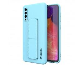 Husa Spate Wozinsky Compatibila Cu Samsung Galaxy A50 / A30s, Cu Stand Metalic Pe Spate, Protectie La Camera - Blue Deschis
