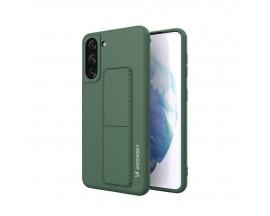 Husa Spate Wozinsky Compatibila Cu Samsung Galaxy S21 5G, Cu Stand Metalic Pe Spate, Protectie La Camera - Verde