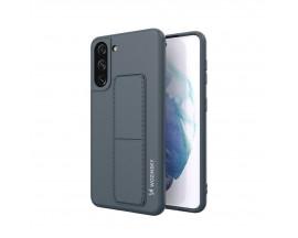 Husa Spate Wozinsky Compatibila Cu Samsung Galaxy S21+ Plus 5G, Cu Stand Metalic Pe Spate, Protectie La Camera - Navy Blue