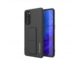 Husa Spate Wozinsky Compatibila Cu Oppo Reno Pro 5G / Reno 4 Pro, Cu Stand Metalic Pe Spate, Protectie La Camera - Negru