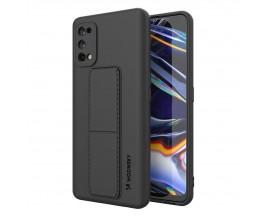 Husa Spate Wozinsky Compatibila Cu Realme 7 pro, Cu Stand Metalic Pe Spate, Protectie La Camera - Negru