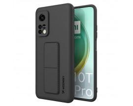Husa Spate Wozinsky Compatibila Cu Xiaomi Mi 10T Pro 5G / Mi 10T 5G, Cu Stand Metalic Pe Spate, Protectie La Camera - Negru
