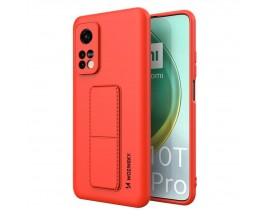Husa Spate Wozinsky Compatibila Cu Xiaomi Mi 10T Pro 5G / Mi 10T 5G, Cu Stand Metalic Pe Spate, Protectie La Camera - Rosu