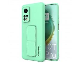 Husa Spate Wozinsky Compatibila Cu Xiaomi Mi 10T Pro 5G / Mi 10T 5G, Cu Stand Metalic Pe Spate, Protectie Camera - Verde Menta