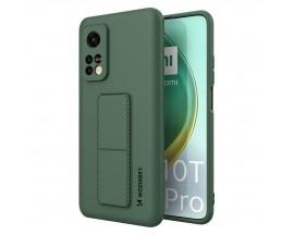 Husa Spate Wozinsky Compatibila Cu Xiaomi Mi 10T Pro 5G / Mi 10T 5G, Cu Stand Metalic Pe Spate, Protectie La Camera - Verde