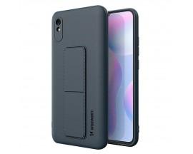 Husa Spate Wozinsky Compatibila Cu Xiaomi Redmi 9A, Cu Stand Metalic Pe Spate, Protectie La Camera - Navy Blue