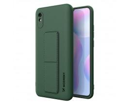 Husa Spate Wozinsky Compatibila Cu Xiaomi Redmi Note 9 Pro / Redmi Note 9S Cu Stand Metalic Spate, Protectie Camera - Dark Green