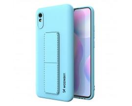 Husa Spate Wozinsky Compatibila Cu Xiaomi Redmi Note 9 Pro / Redmi Note 9S Cu Stand Metalic Spate, Protectie Camera - Blue