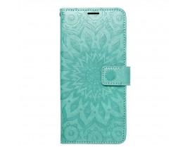 Husa Flip Cover Forcell Mezzo Compatibila Cu Samsung Galaxy A22 4G, Model Mandala Verde