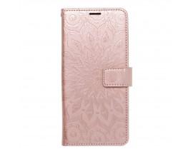 Husa Flip Cover Forcell Mezzo Compatibila Cu Samsung Galaxy A22 4G, Model Mandala Rose Gold
