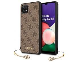 Husa Spate Guess Colectia Charms Compatibila Cu Samsung Galaxy A22 5G, Maro - 9018559