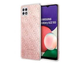 Husa Spate Guess Compatibila Cu Samsung Galaxy A22 5G, Roz Glitter - 9018535