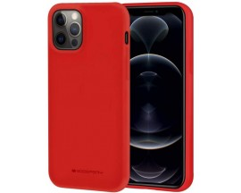 Husa Spate Mercury Goospery Soft Jelly Compatibila Cu iPhone 12 Pro Max, Rosu