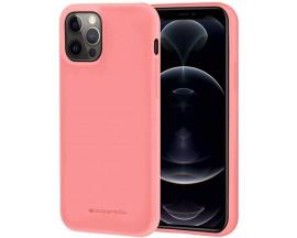Husa Spate Mercury Goospery Soft Jelly Compatibila Cu iPhone 12 Pro Max, Roz