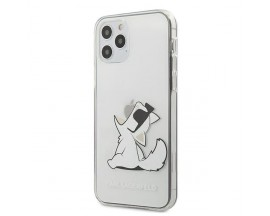 Husa Premium Originala Karl Lagerfeld iPhone 12 Pro, Colectia Choupette Fun, Transparenta - KLHCP12MCFNRC