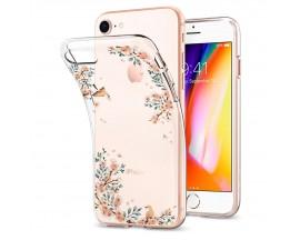 Husa Spigen Liquid Crystal Compatibila iPhone Se 2 / 7 / 8 Blossom Nature Transparenta