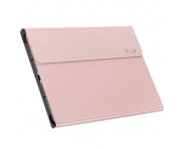 Husa Tableta Infiland Classic Stand Compatibila Cu Samsung Galaxy Tab S6 Lite 10.4 P610 / P615 Roz