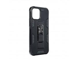 Husa Premium Upzz Defender Antishock Compatibila Cu iPhone 12 ,negru -stand Magnetic Pe Spate
