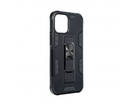Husa Premium Upzz Defender Antishock Compatibila Cu iPhone 12 / 12 Pro  ,negru -stand Magnetic Pe Spate