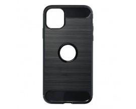 Husa Spate Upzz Carbon Pro Compatibila Cu iPhone 12 Mini, Negru