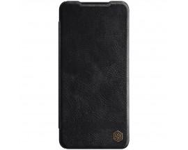 Husa Flip Cover Book Premium Nillkin Qin Compatibila Cu Samsung Galaxy A22 4g, Negru, Piele Ecologica
