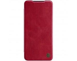 Husa Flip Cover Book Premium Nillkin Qin Compatibila Cu Samsung Galaxy A22 4g, Rosu, Piele Ecologica