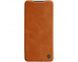 Husa Flip Cover Book Premium Nillkin Qin Compatibila Cu Samsung Galaxy A22 4g, Maro, Piele Ecologica