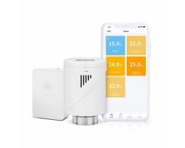 Kit cap termostatic cu hub pentru calorifer, Meross MTS100H, Compatibil cu Amazon Alexa, Google Home & IFTTT