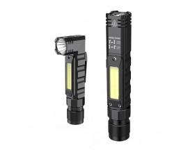 Lanterna LED Supfire G19, 5W, 500 lm, cu acumulator 14500 mAh, incarcare USB, suport cap, prindere magnetica, IP42 - 534