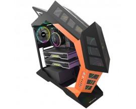 Carcasa pentru computer Darkflash K1, Negru si Portocaliu - 70082308