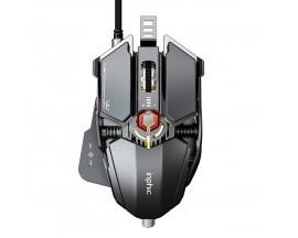 Mouse cu fir pentru gaming Inphic PG6, Argintiu/Rosu - 86491098