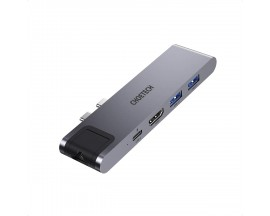 Stație de andocare Choetech pentru adaptor Apple MacBook Pro HUB USB tip C 7in2 100W PD gri (HUB-M24) - 4976878