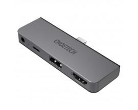 HUB USB multifuncțional Choetech pentru Apple iPad Pro Typ C 4in1 60W PD negru (HUB-M13) - 974706