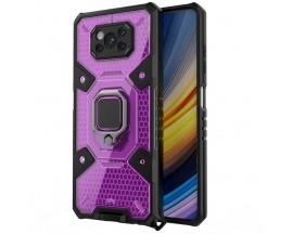 Husa Spate Upzz Techsuit Honeycomb Armor Cu Inel Metalic Compatibila Cu Xiaomi Poco X3 NFC / X3 / X3 Pro