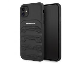 Husa Spate Premium Mercedes Amg Compatibila Cu iPhone 11 Piele Naturala, Negru - 39014261