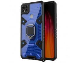 Husa Spate Upzz Techsuit Honeycomb Armor Cu Inel Metalic Compatibila Cu Xiaomi Redmi 9C Albastru