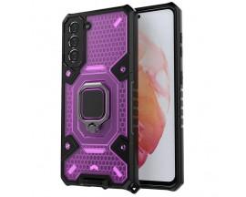 Husa Spate Upzz Techsuit Honeycomb Armor Cu Inel Metalic Compatibila Cu Samsung Galaxy S21 FE Mov