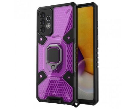 Husa Spate Upzz Techsuit Honeycomb Armor Cu Inel Metalic Compatibila Cu Samsung Galaxy A72 5G Mov