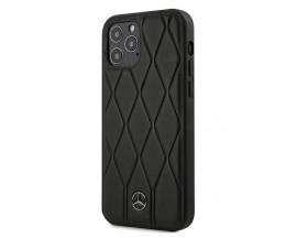Husa Spate Premium Mercedes Amg Compatibila Cu iPhone 12 / 12 Pro, Piele Naturala Wave Line - 40484173